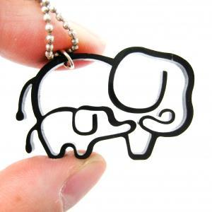 Simple Elephant Family Animal Charm..